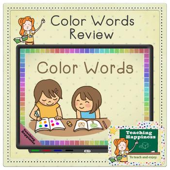 Color Words Animated PowerPoint | Review | Preschool | Kindergarten