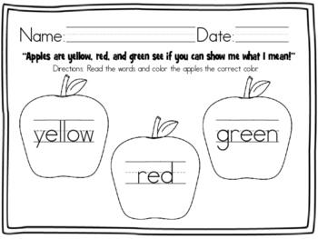 Color Words - Apple Theme