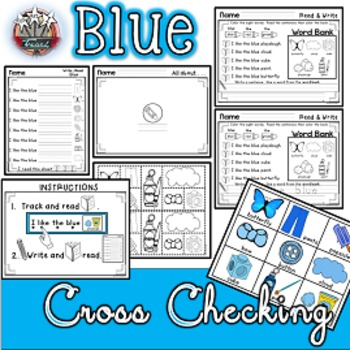 Color Words: BLUE {sight words, simple sentences, vocabulary, writing}