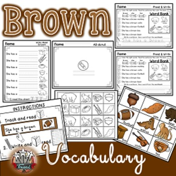 Color Words: BROWN {sight words, simple sentences, vocabulary, writing}