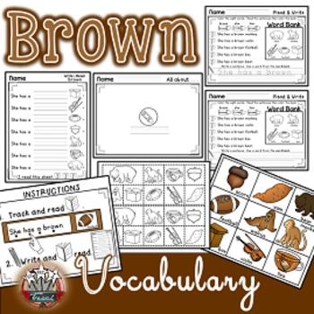 Color Words: BROWN {sight words, simple sentences, vocabul