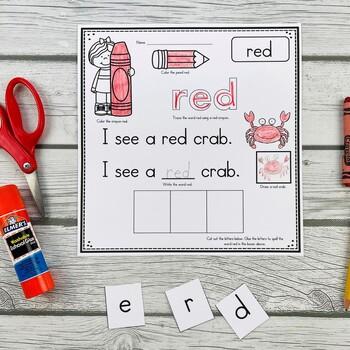 Color Words BUNDLE (6 Color Words Sets) Poems, Books, Center, Printables & More