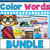 Color Words BUNDLE (6 Color Words Sets) Poems, Books, Center, Printables & More