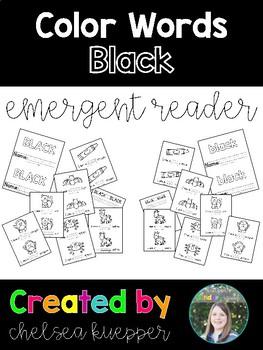 Color Words - Black Emergent Reader