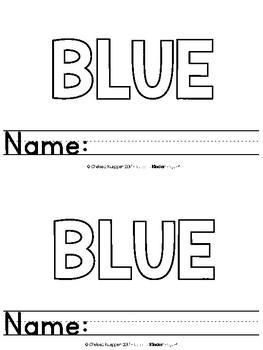 Color Words - Blue Emergent Reader