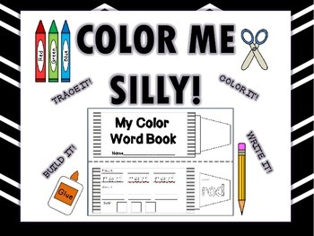 Color Words Book (Interactive Notebook Addition) BUNDLE-English/Spanish Versions