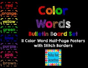 Color Words Bulletin Board Set