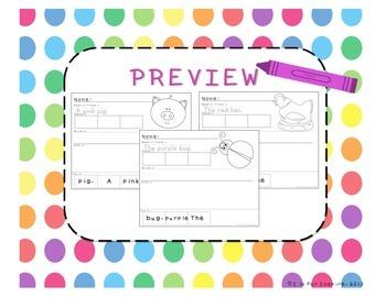 Color Words & CVC Words: Read it! Trace it! Cut it! Paste it! Write it! Draw it!