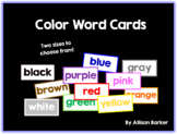 Color Words Cards