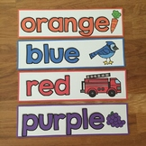 Color Word Cards with Pictures FREEBIE