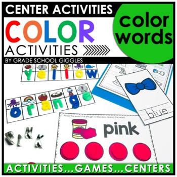 Color Words Center Activities