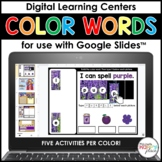 Color Words Centers for Google Slides - Distance Learning
