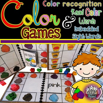 Color Words:  Color Word Games