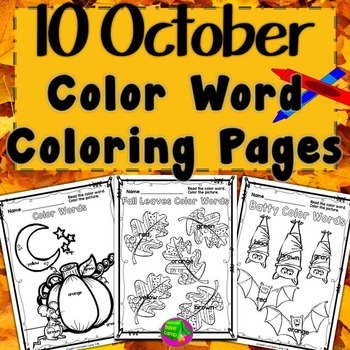 Coloring Pages for October