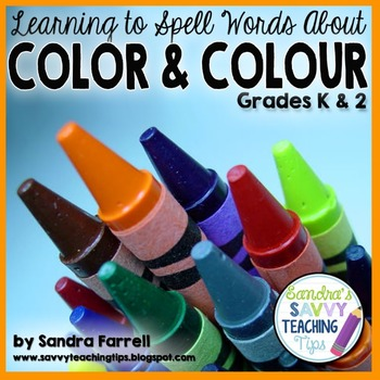 Color Words Colour Words for Kindergarten and First