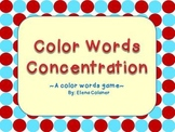Color Words Concentration