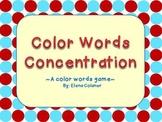 Color Words Concentration