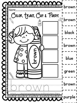 Color Words Cut & Paste + Posters