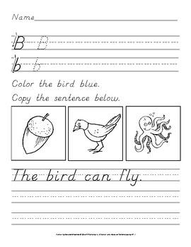 Color Words: D'nealian Handwriting Practice