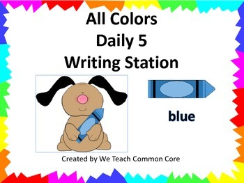 Color Words Daily 5 Writing Activity Literacy