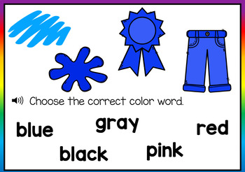 Color Words Digital Boom Cards (Learning Colors & Color Words) Distance Learning