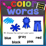 Color Words Digital Boom Cards (Learning Colors & Color Wo