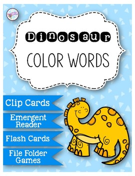 Color Words: Dinosaur Activities