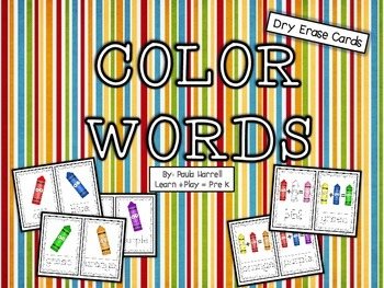 Color Words (Dry Erase Cards)