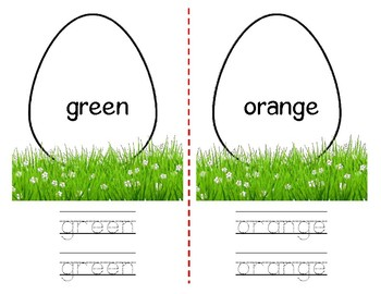 Color Words - Easter Eggs