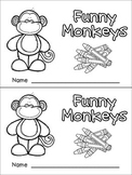Color Words Emergent Reader- Kindergarten- Funny Monkeys