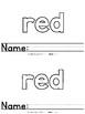 Color Words - Red Emergent Reader Freebie