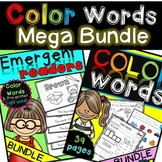 Color Words {Emergent Readers AND worksheets} bundle