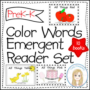 Color Words Emergent Readers Set (10)