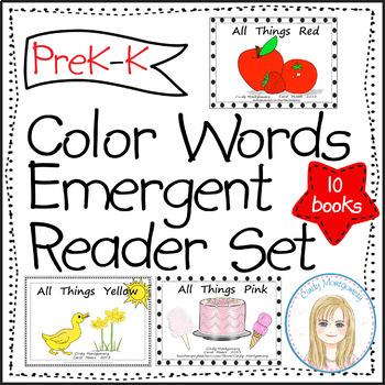 Color Words Emergent Readers Set (10)