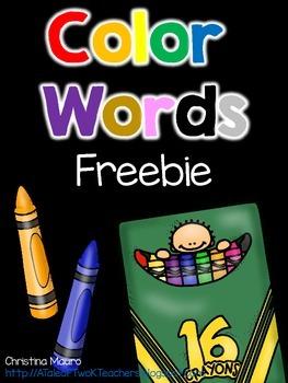 Color Words FREEBIE