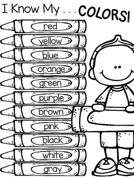 color words freebie by christina mauro  teachers pay teachers color words freebie