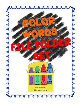 Color Words File Folder Activity
