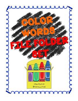 Color Words File Folder Activity
