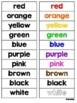 Color Words File Folder Match