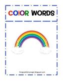 Color Words File Folder