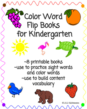 Color Words Flip Books