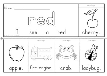 Color Words Flip Books & Writing Activities for Emergent Readers