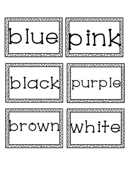 Color Words *Freebie*