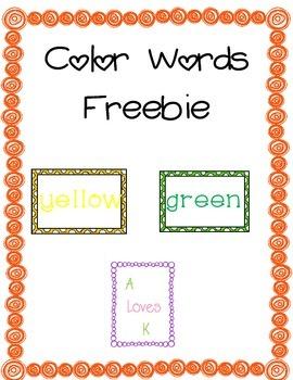 Color Words *Freebie*