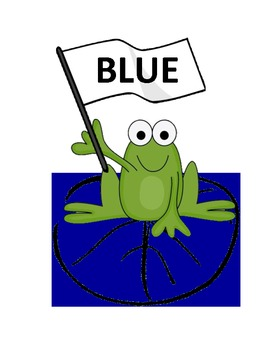 Color Words Frogs
