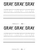 Color Words - Gray Emergent Reader