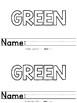 Color Words - Green Emergent Reader