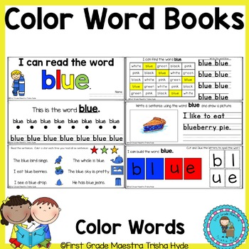 Color Words Sight Word Books