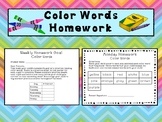 Color Words Homework