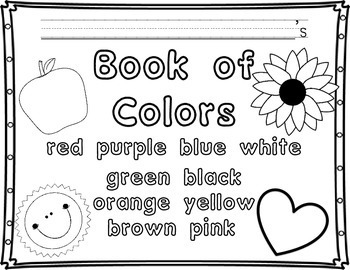 Color Words: I Know My Color Words and Colors for Pre-K-1